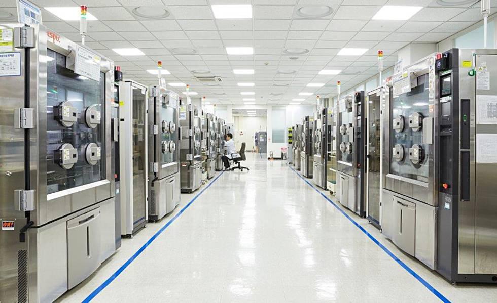 En el interior de la sede de Samsung en Corea