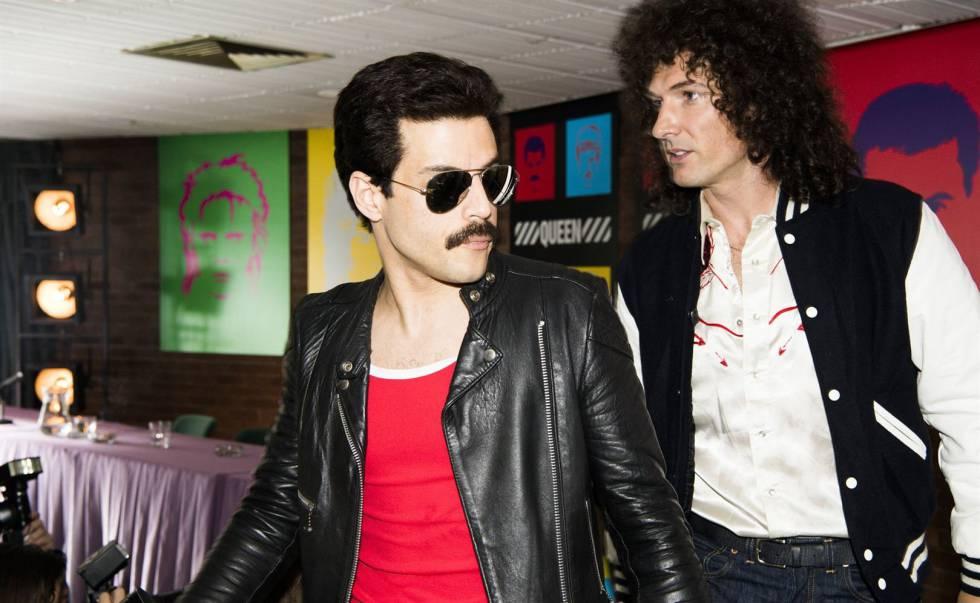 Rami Malek y Gwilym Lee como Freddie Mercury y Bryan May en 'Bohemian Rhapsody'.