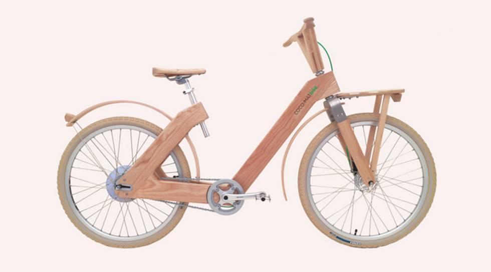 Una de las bicicletas de madera de Coco-Mat.