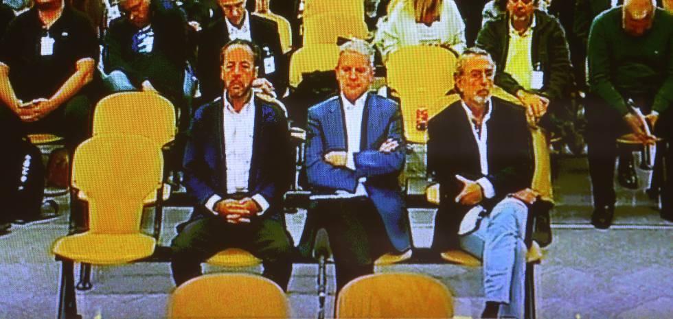 Álvaro Pérez, Pablo Crespo y Francisco Correa, en el banquillo de Gurtel