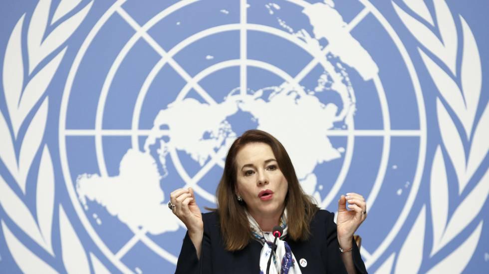 María Fernanda Espinosa, presidenta de la Asamblea General de la ONU.