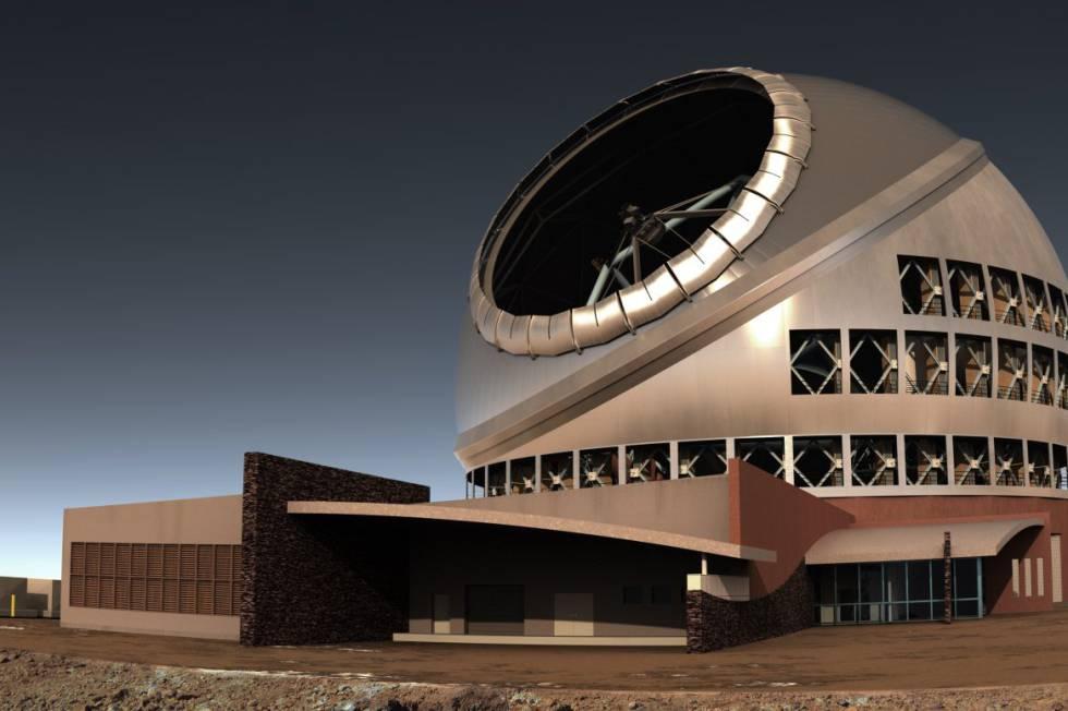 Aspecto que tendrá el Telescopio de Treina Metros.