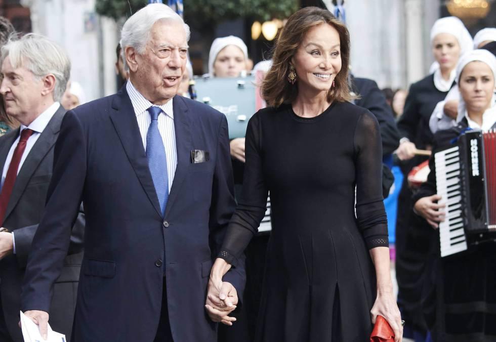 Isabel Preysler y Mario Vargas Llosa en los últimos premios Princesa de Asturias en Oviedo.
