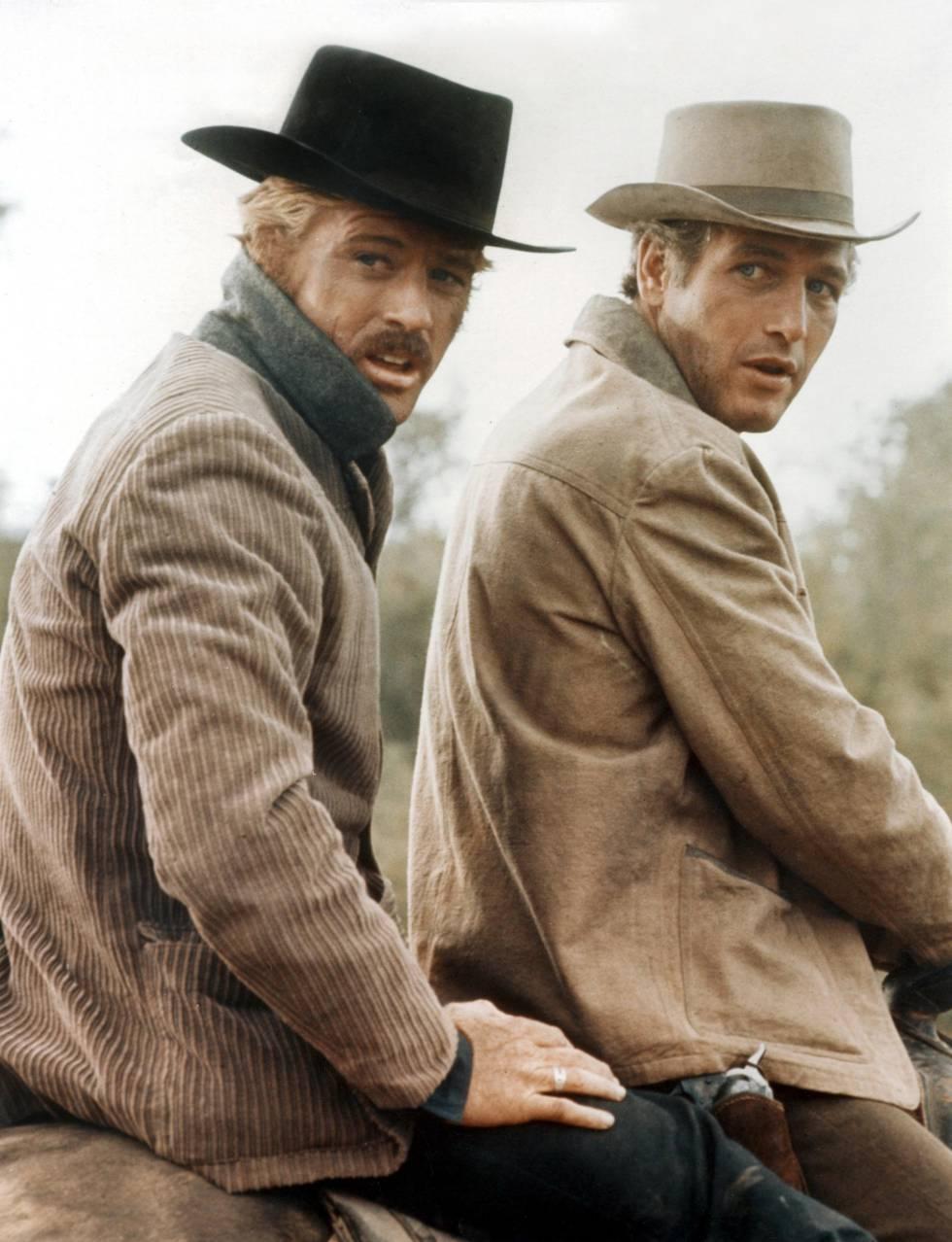 Redford num fotograma do filme 'Dois Homens e Um Destino' (com Paul Newman).