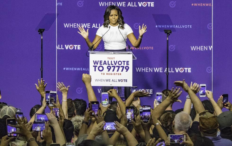 Michelle Obama durante un mitin en Las Vegas, Nevada, el pasado 23 de septiembre.