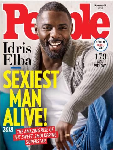 Idris Elba, hombre mas sexy del mundo en 2018 según 'People'.