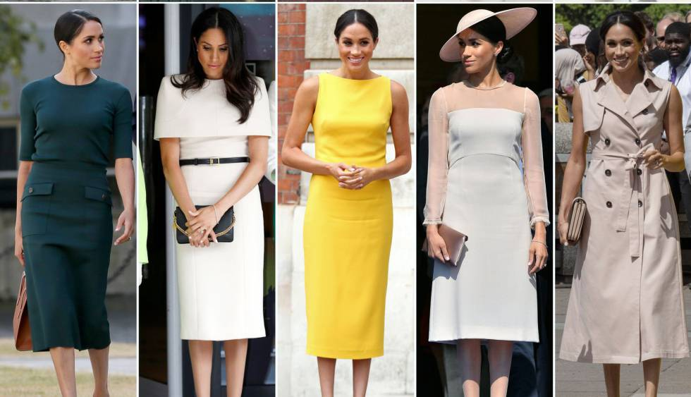 Meghan Markle, en distintos 'looks' como duquesa de Sussex.