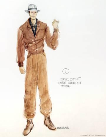 158994a4d5314 El boseto del traje de Indiana Jones para la película  En búsqueda del arca  perdida