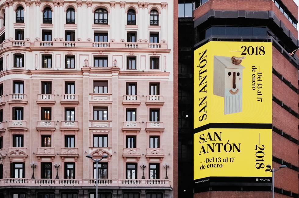 Cartel realizado por Aníbal Hernández con motivo de San Antón.