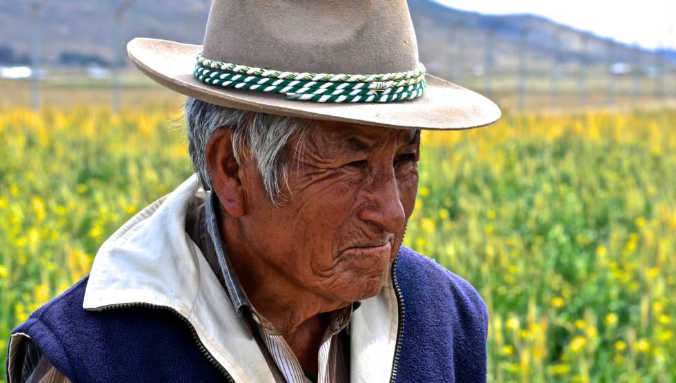 Un campesino del altiplano boliviano.