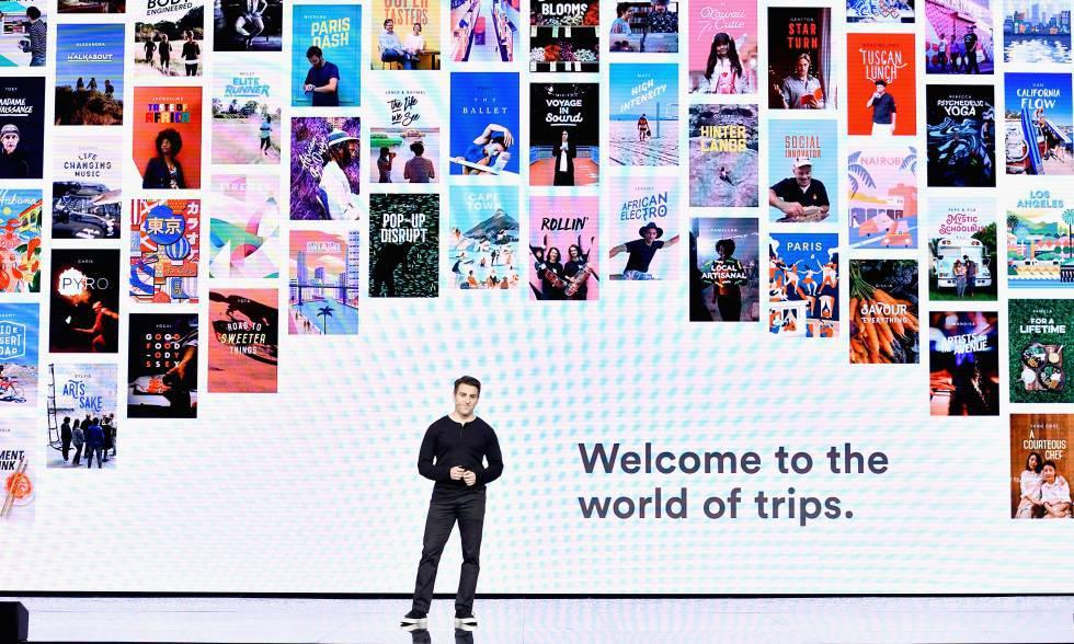 Brian Chesky, consejero delegado de Airbnb, durante un acto de la compañía.