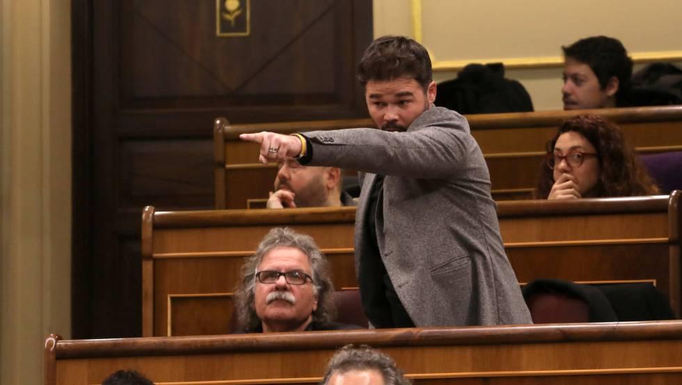 Gabriel Rufián en el Congreso el pasado 21 de noviembre.