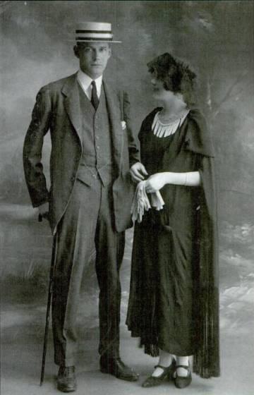 Harry y Caresse Crosby el día de su boda, en 1922.