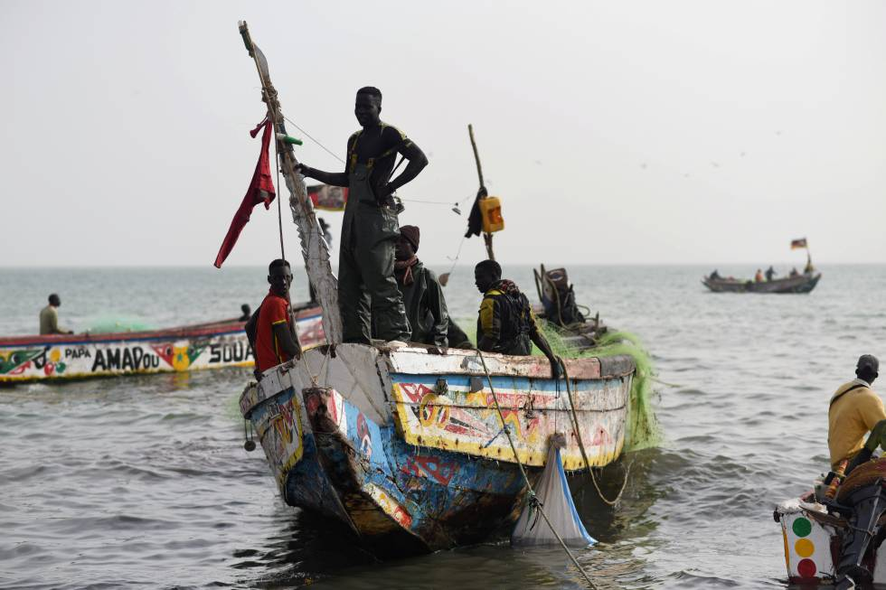 Pescadores en Joal-Fadiouth, Senegal.