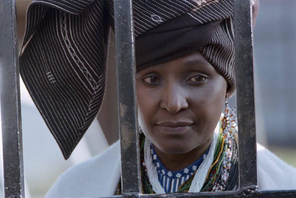 Winnie Mandela en 1985