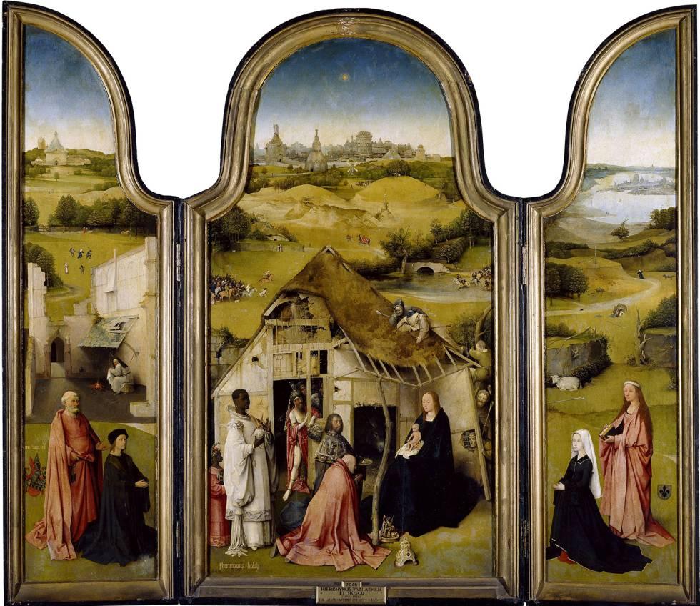 Tríptico de La adoración de los Magos, de El Bosco.