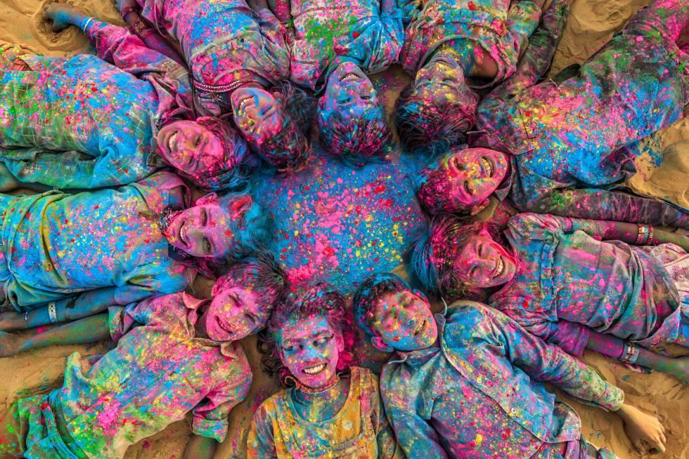 Festival de Holi en Jaisalmer, India.