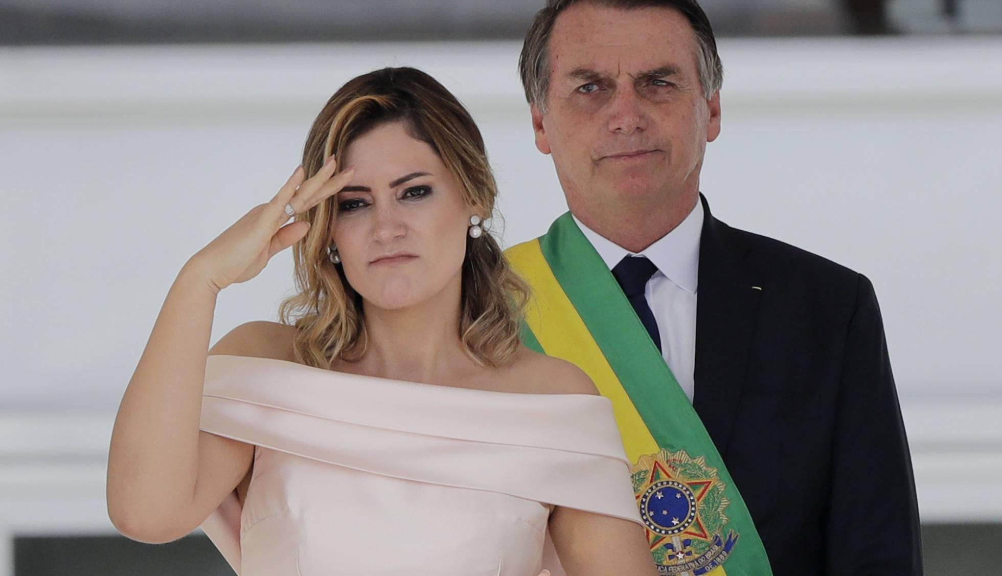 Michelle Bolsonaro, la cara amable del presidente ultraderechista de Brasil