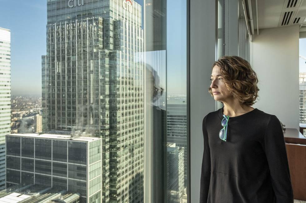 Belén Lerena Guil, analista cuantitativa de JP Morgan, en la sede del banco en Londres.