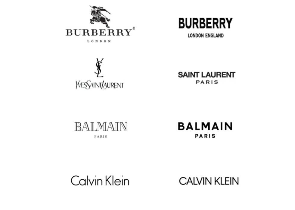 Logo Por Qué Todas Las Marcas De Moda De Lujo Parecen Ahora Iguales Icon Design El País