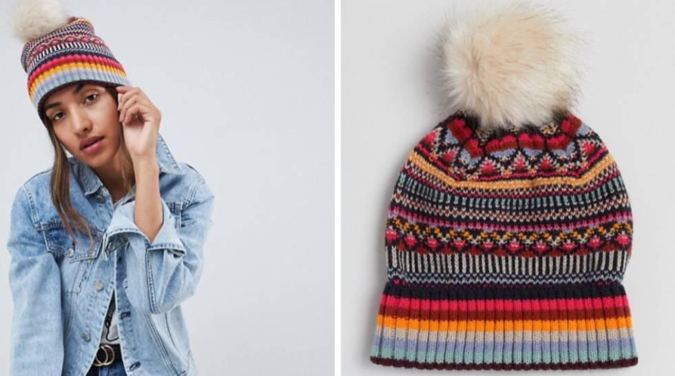 Gorro de lana con pompón. Rebajas 2019  15 ofertas en complementos de  invierno para mujer y hombre f0e80dc688a