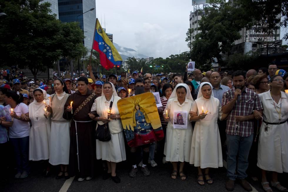 Resultado de imagen de obispos marcha venezuela