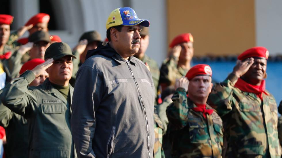 El presidente de Venezuela, Nicolas Maduro, durante un evento conmemorativo en Caracas, el pasado 4 de febrero.