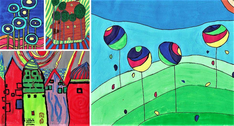 """Bocetos de los estudiantes de ESO para la 'botella maceta', en el Jardín colgante del proyecto """"Tu derecho a la ventana, tu deber al Árbol"""""""
