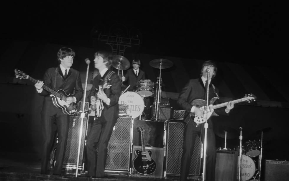 Los Beatles durante una actuación en Nueva York en 1970.
