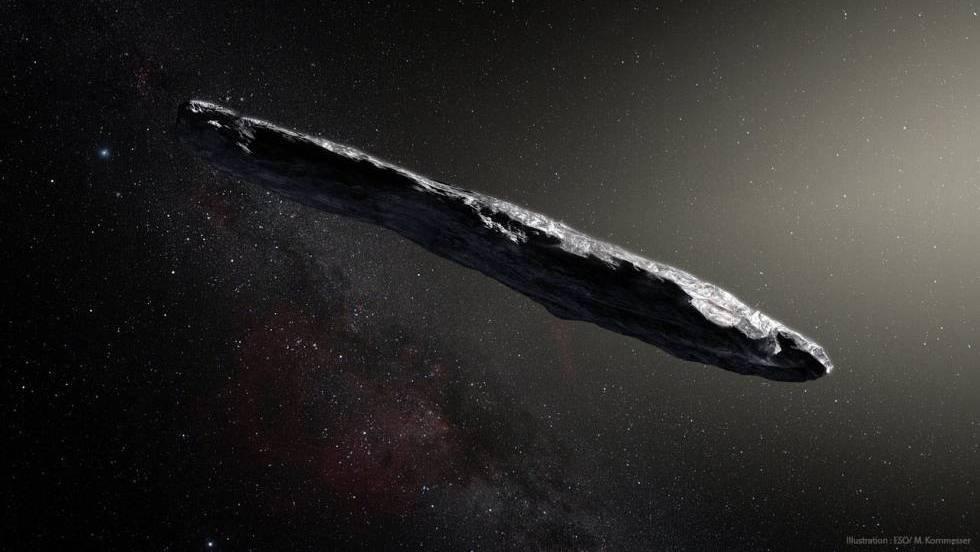 Recreación de 'Oumuamua'