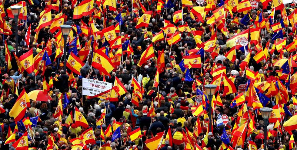 Around 45,000 people attended the march, according to the central government delegate in Madrid.