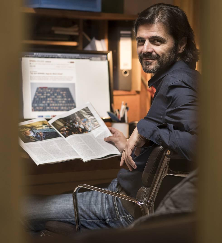 Juan Moreno, el 'freelance' que tiró del hilo, en su estudio de Berlín.