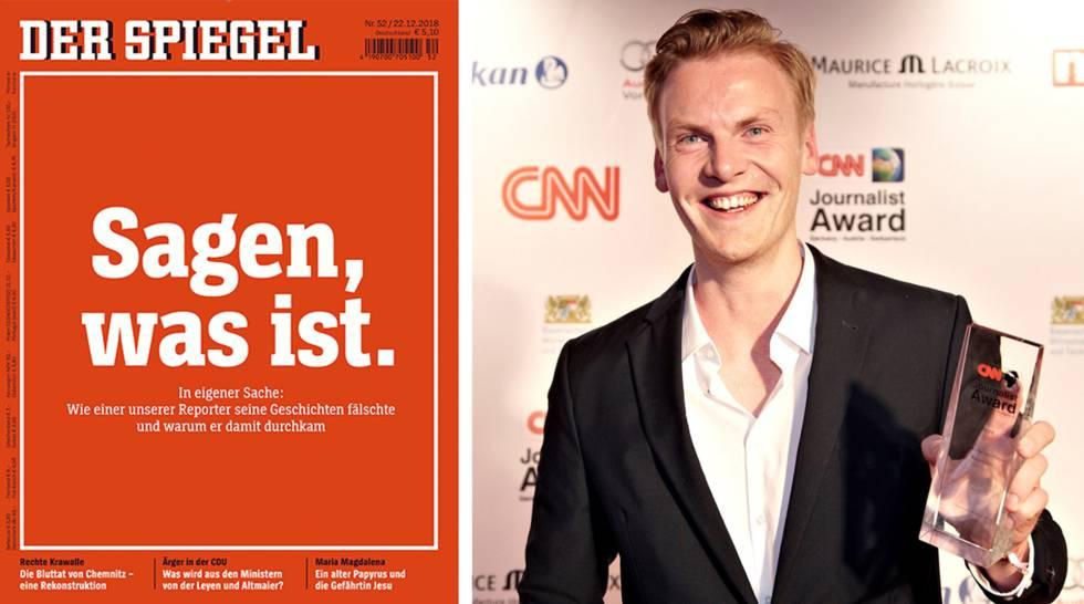 Portada del número de 'Der Spiegel' en el que se relata el fraude. El titular es una frase del fundador de la revista: