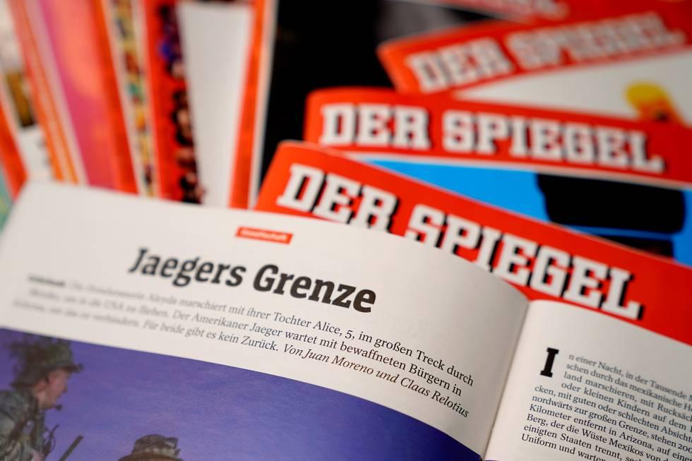Ejemplares de la revista 'Der Spiegel' con el reportaje a partir del que se descubrió el engaño.