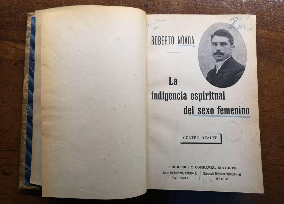 Un ejemplar de 'La indigencia espiritual del sexo femenino' conservado en  la Biblioteca Nacional 3481fd0a34b4