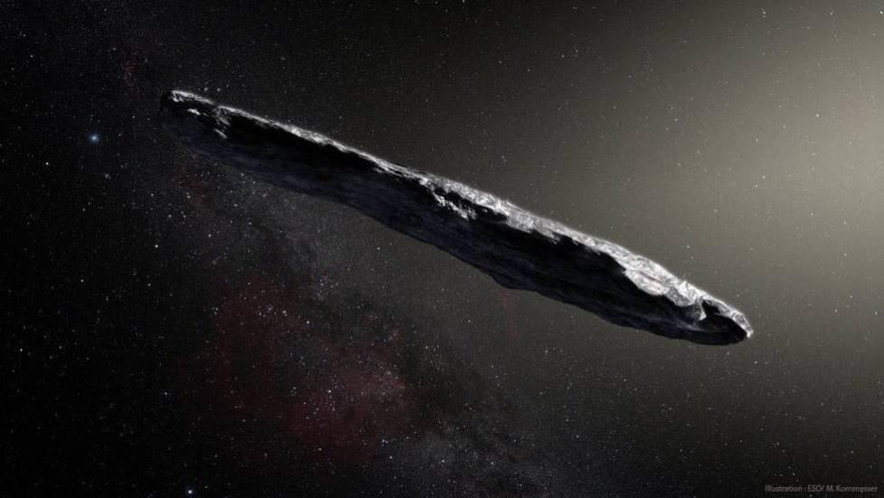 La nitidez de esta recreación tiene poco que ver con cómo se vio realmente a Oumuamua