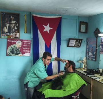 Barbearia no bairro de Vedado.