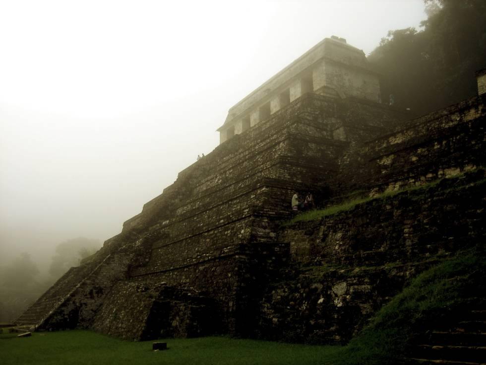 El misterioso templo de las Inscripciones, en Palenque, donde se encuentra la tumba del rey Pacal.