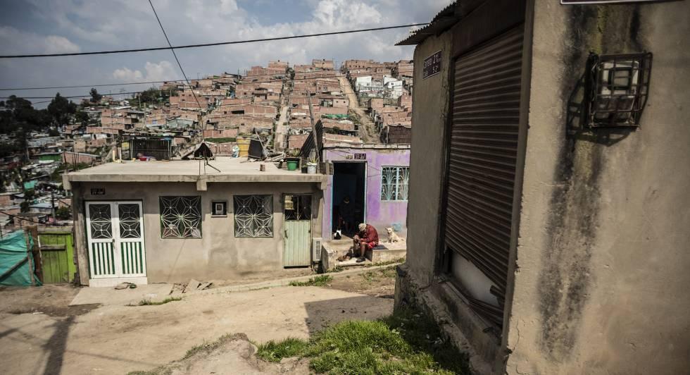 Imagen de Cazucá, barrio marginal a las afueras de Bogotá.