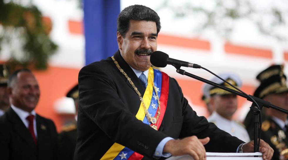 El presidente venezolano, Nicolás Maduro, en un acto en Ciudad Bolívar.