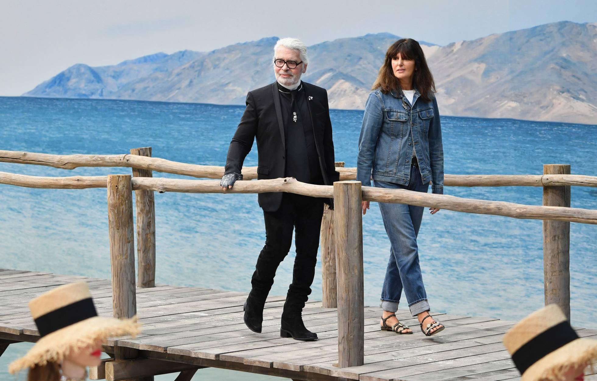 Karl Lagerfeld con Virginie Viard