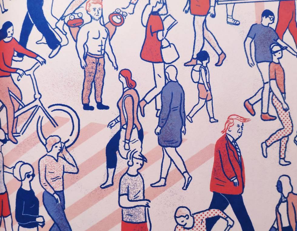 Una de las ilustraciones del interior del libro.