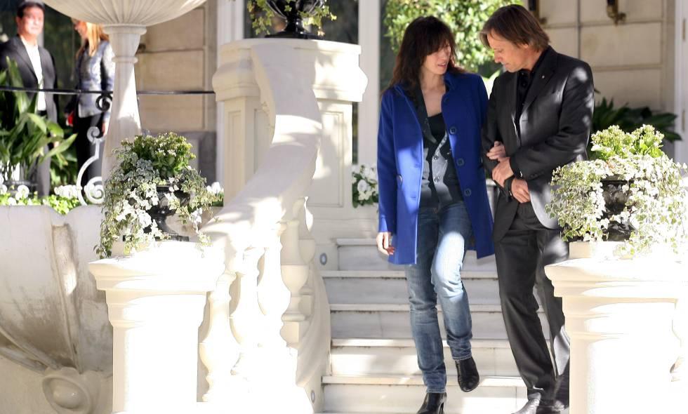 Ariadna Gil y Viggo Mortensen durante la presentación en Madrid de 'Appaloosa', la segunda película en la que coincidieron, en 2008.