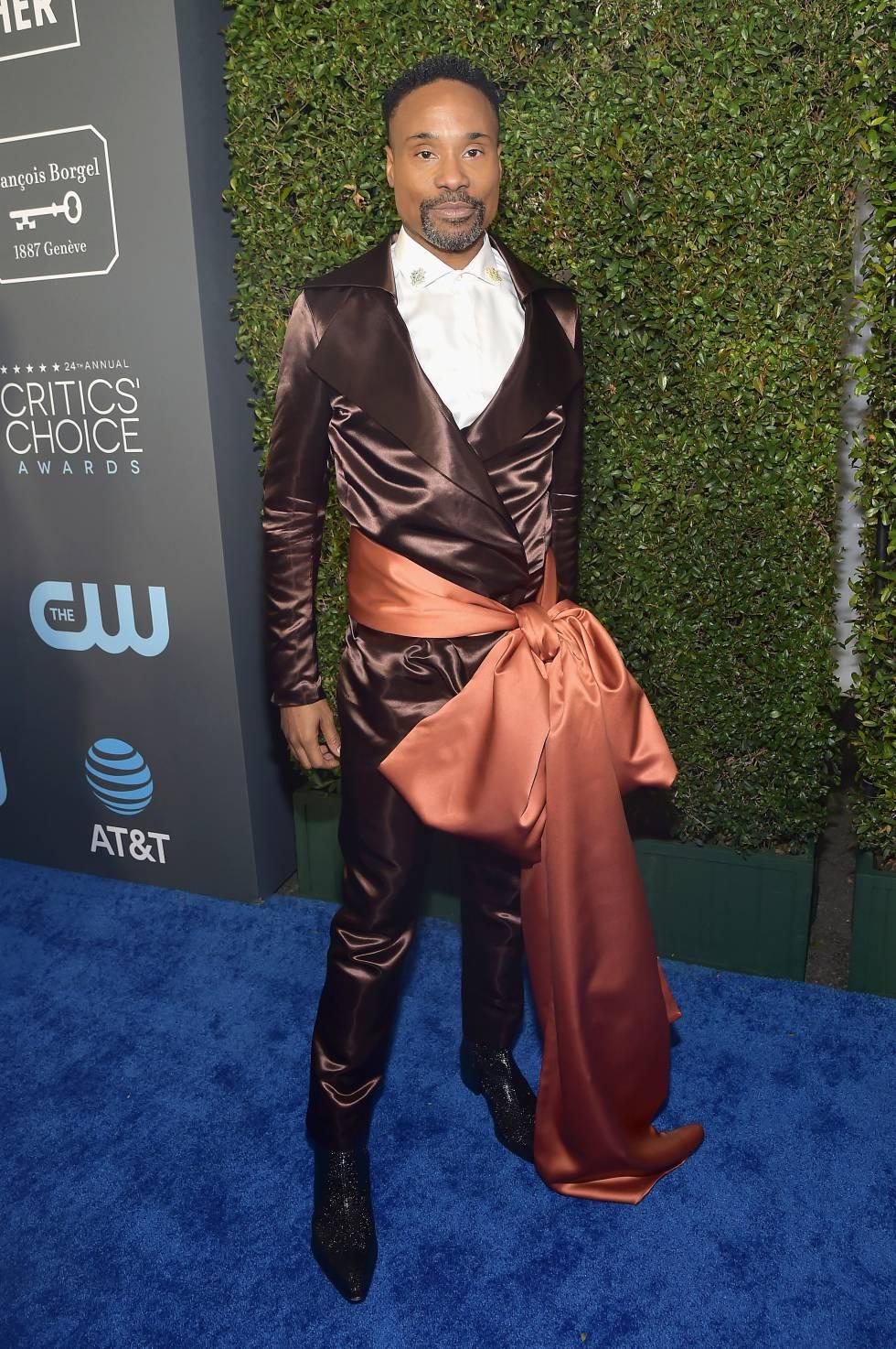 Billy Porter el pasado 31 de enero en los Annual Critics' Choice Awards con un traje de Rinat Brodach.