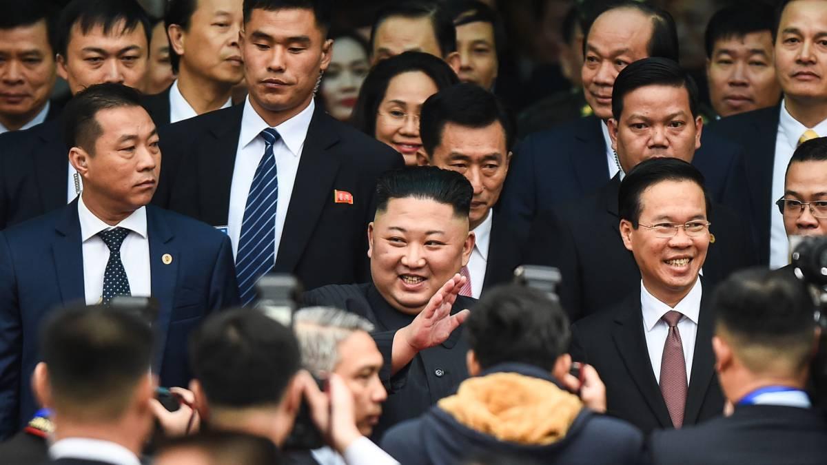 Kim Jong-un llega a la estación de Dong Dang.