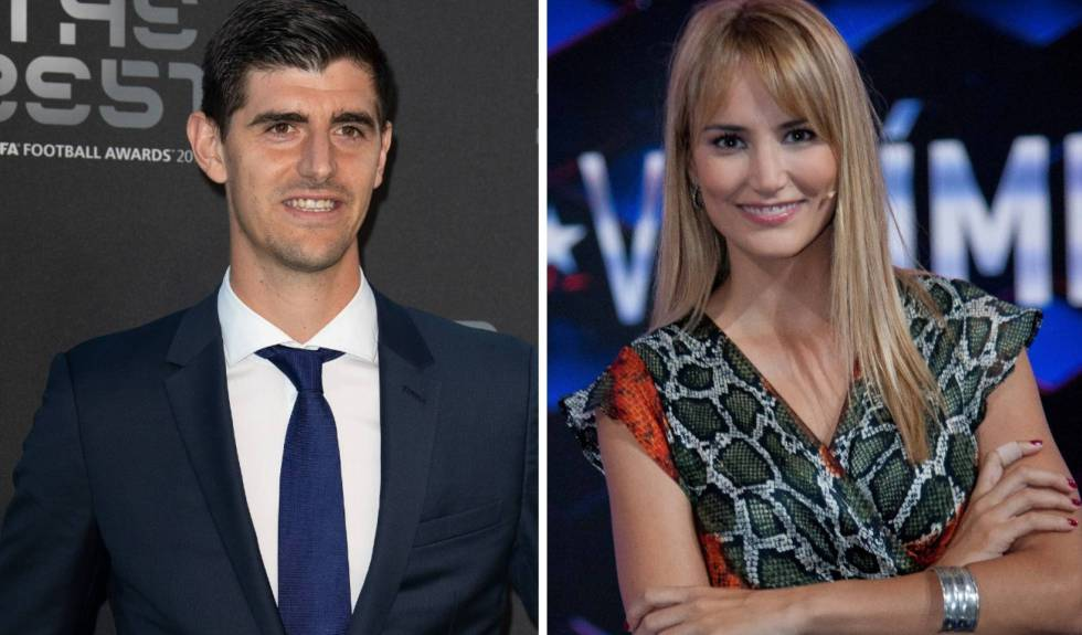 Thibaut Courtois y Alba Carrillo.