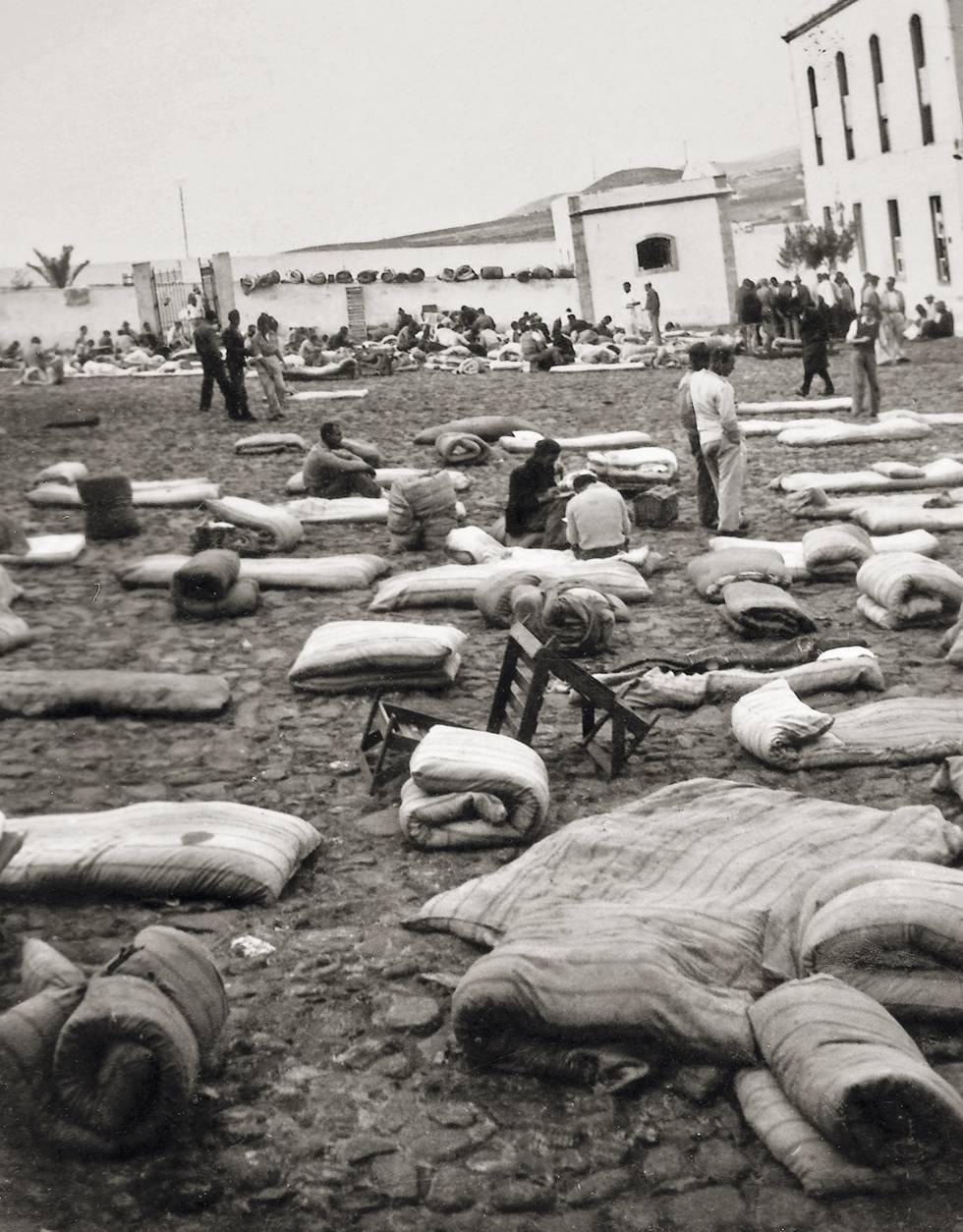Campo de concentración del lazareto de Gando (Gran Canaria).