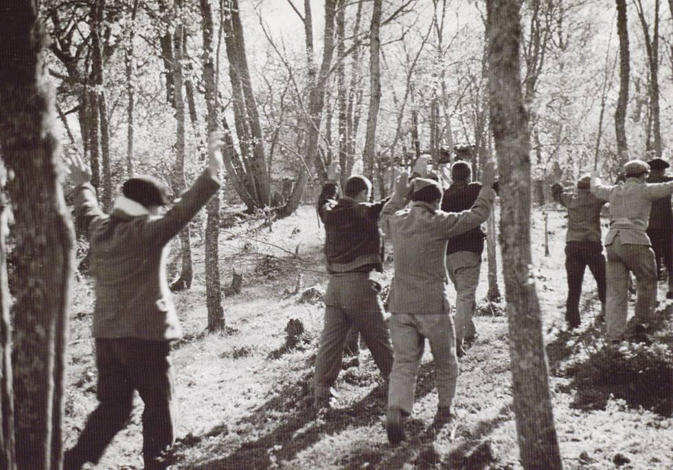 Republicanos capturados por las tropas franquistas.
