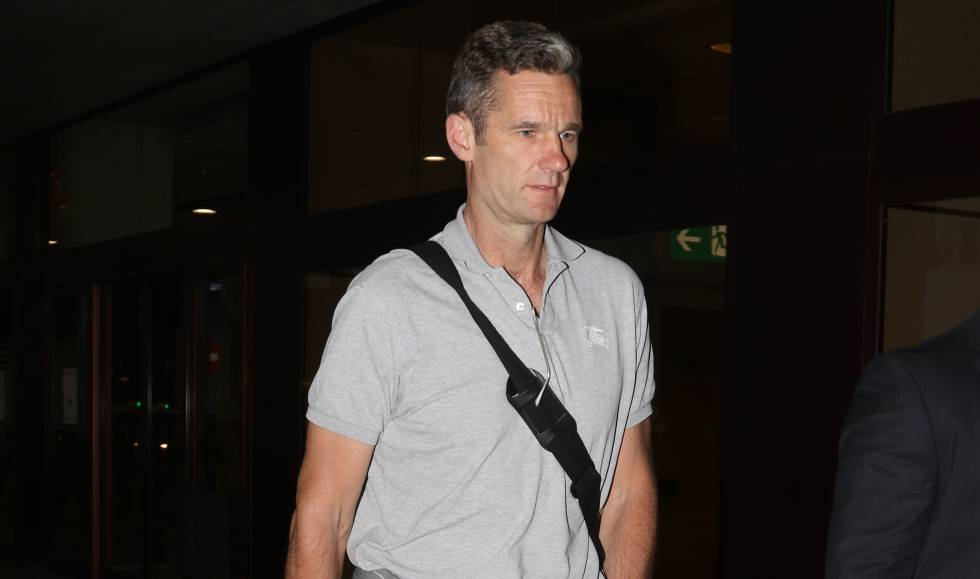 Iñaki Urdangarín en el aeropuerto de Madrid el 17 de junio de 2018, día que ingresó en prisión.