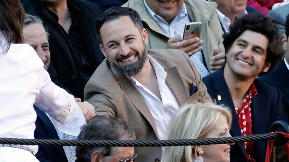 Santiago Abascal y el diestro Morante de la Puebla, el pasado 16 de marzo en Valencia.